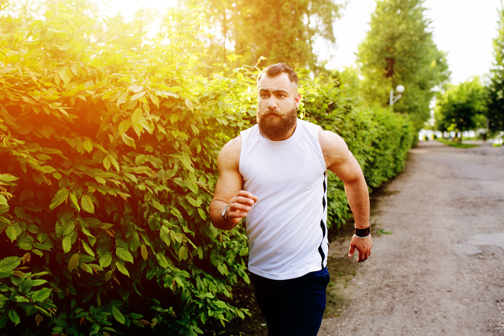 Exercise helps Grow a healthy Beard
