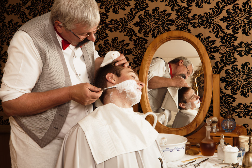 Mens Barbershop Shave Luxury