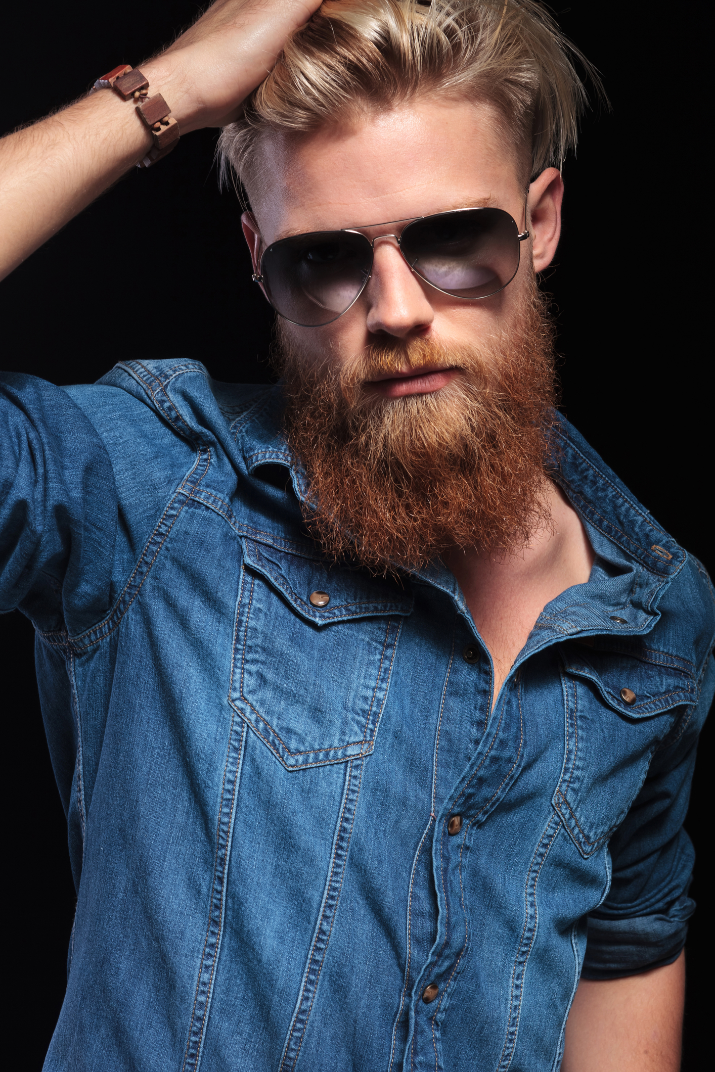 red beard different colored beards