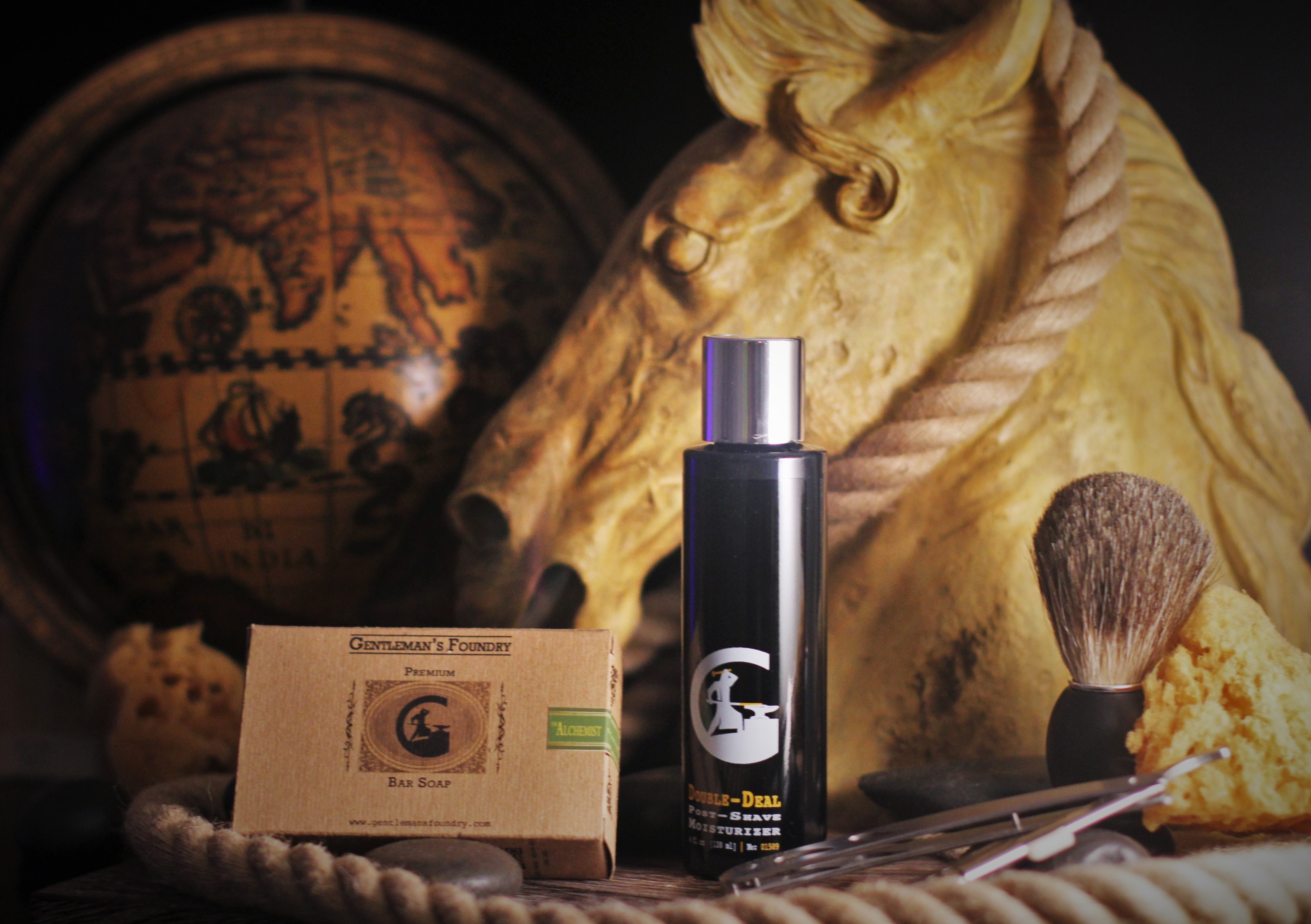 mens shave soap and aftershave grooming kit