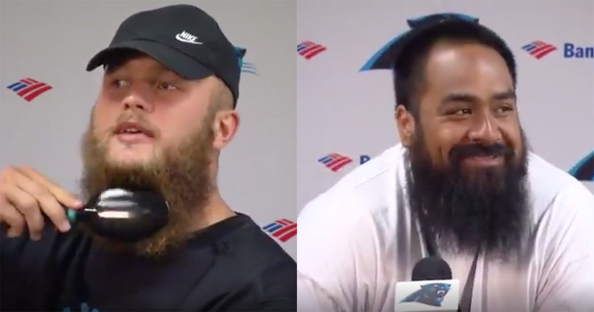 Star Lotulelei and Ben Boulware Gym Beard