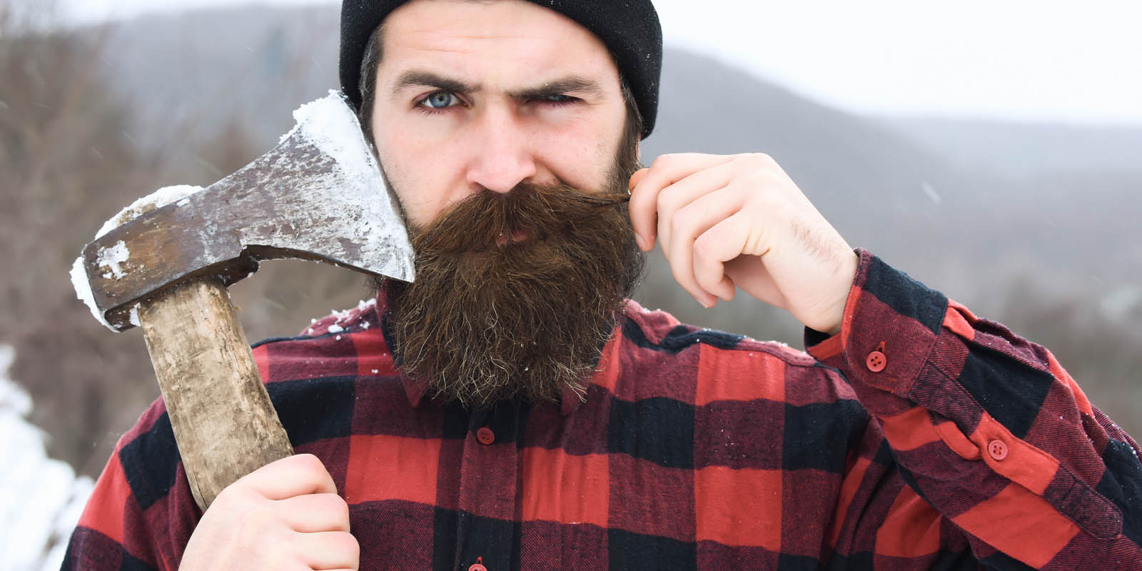 Paul Bunyan halloween costume for men with beards