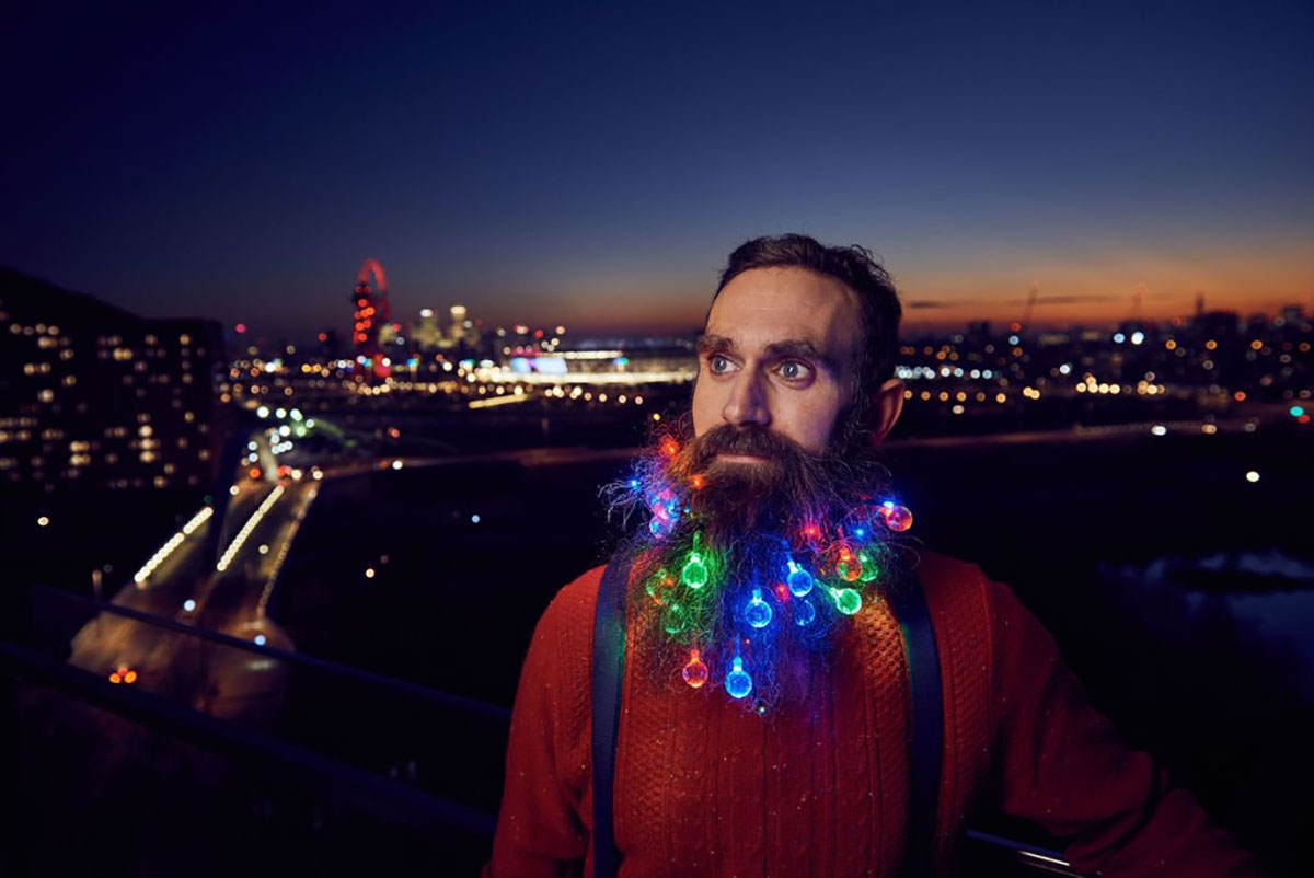 Beard Trends: Beard Christmas Lights
